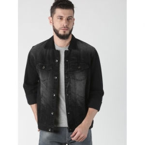 VROJASS Black Denim Jacket
