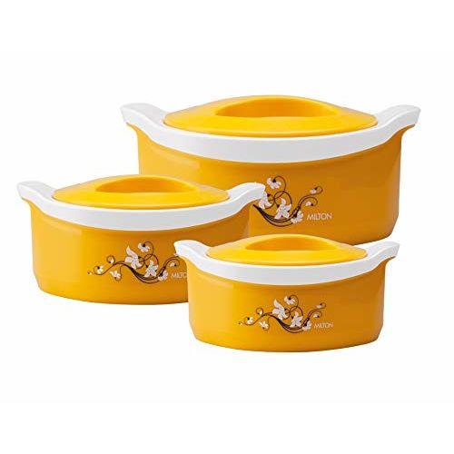 Milton Marvel Inner Steel Jr. Casserole Gift Set of 3, Yellow