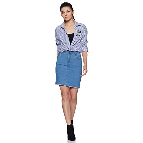 Styleville.in Light Blue Denim Skort Skirt