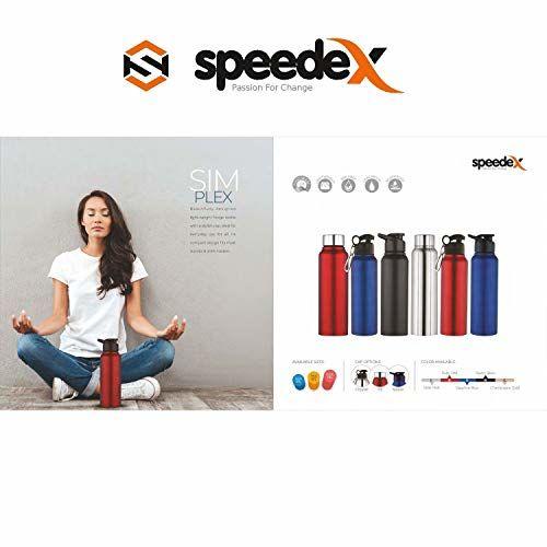 Speedex 1000Ml Single Walled Blue Stainless Steel Fridge Water Bottle Office Sports Camping School Kids Men Girls Women Travelling Gym Yoga Leak Proof Matte