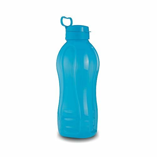 Oliveware Jumbo 2 Litre Water Bottle Blue | for Home, Office & Gym | 2000 ML Jumbo Size | Sturdy with Holder | BPA Free Premium Bottle | Best Big 2L Bottle (Pack of 1)