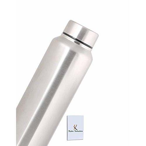 Kuber Industries Stainless Steel 4 Pcs Fridge Water Bottle/Refrigerator Bottle/Thunder - CTKTC6004