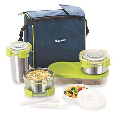 Magnus Stainless Steel Lunch Box, 5-Piece, Silver