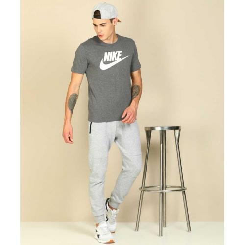 Nike Grey Printed Round Neck T-Shirt