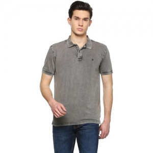 Allen Solly Solid Men Polo Neck Grey T-Shirt