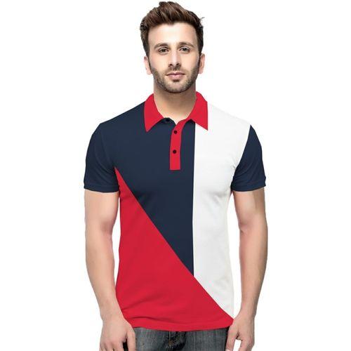 Tripr Color Block Men Polo Neck Multicolor T-Shirt