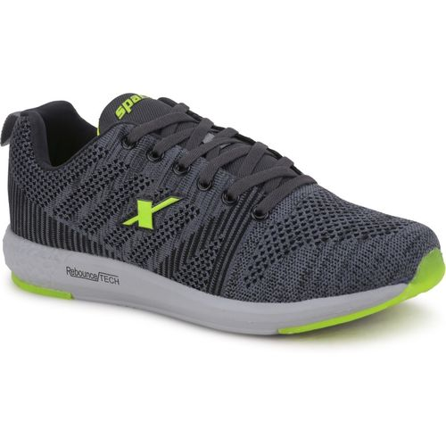 Sparx SM-379 Fluorescent Running Shoes For Men(Green, Grey)