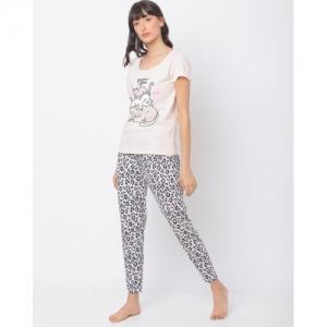 Slumber Jill Printed T-shirt with Pyjamas Set