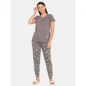 Zivame Printed Top with Pyjamas Set
