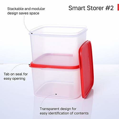 Tupperware Dry Storage Smart Snack Pulses Lentils Storer #2 2.5l 2pc