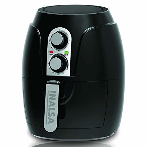 Inalsa Air Fryer 2.3 L Crispy Fry-1200W with Smart Rapid Air Technology, Timer Selection And Fully Adjustable Temperature Control, (Black)