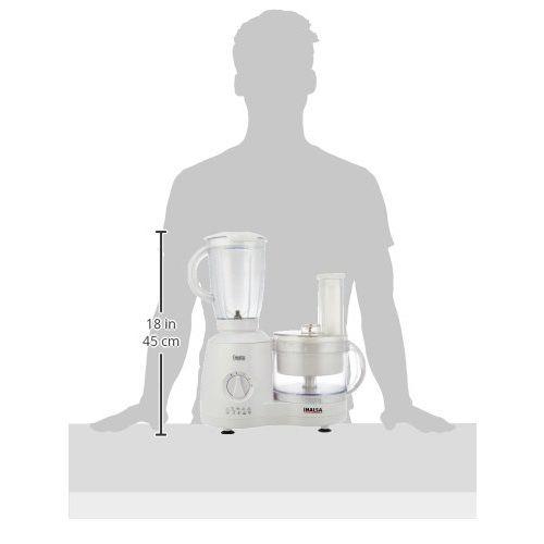 Inalsa Food Processor Fiesta 650-Watt with Break Resistant Processing Bowl, Blender, Dry Grinding Jar, 8 Accessories| 5 Yr Warranty on Motor | Centrifugal
