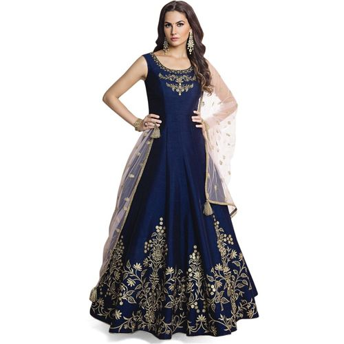 Aaishvi Flared/A-line Gown(Blue)