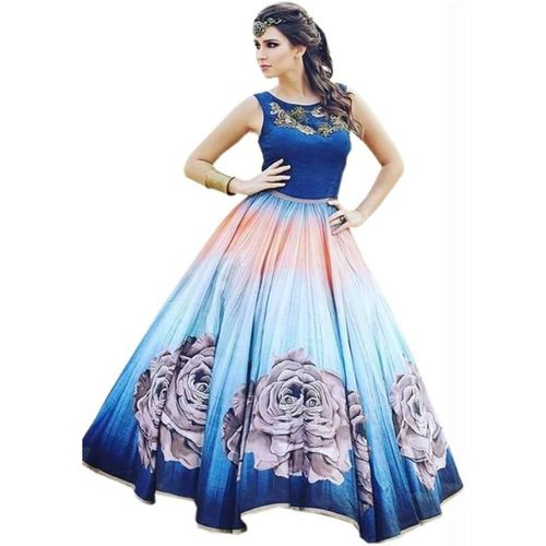 Royal Drift Flared/A-line Gown(Blue)