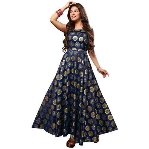 KARMENTERPRISE Anarkali Gown(Blue)