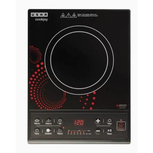 Usha IC3616 INDUCTION COOKTOP Induction Cooktop(Black, Push Button)
