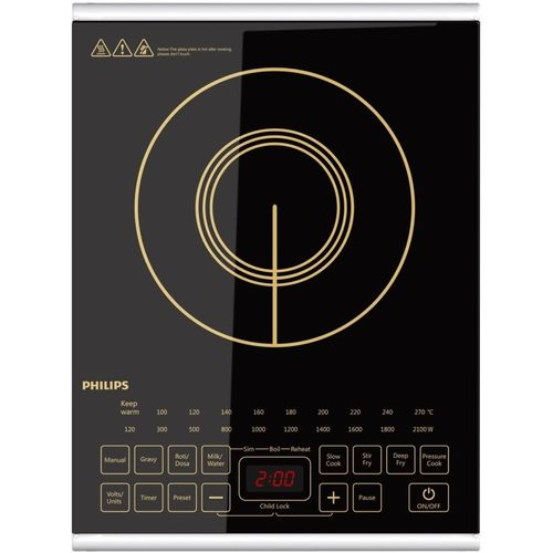 Philips HD4938 with Non Stick Cookware Set Induction Cooktop(Black, Touch Panel)