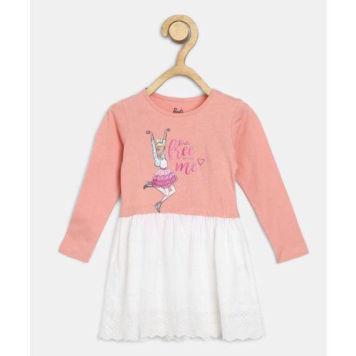 Barbie Girls Midi/Knee Length Casual Dress(Pink, Full Sleeve)