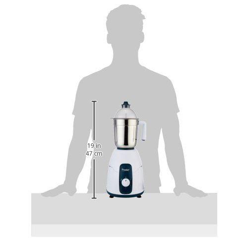 Prestige Stylo (750 Watt) Mixer Grinder with 3 Stainless Steel Jar