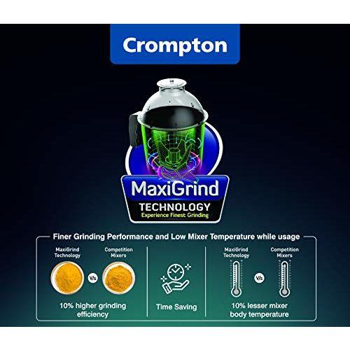 Crompton Ameo 750 Watt Mixer Grinder 3 Stainless Steel Jars USA Universal Plug