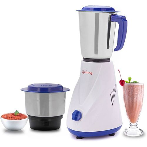 Lifelong Dynamite LLMG66 500 W Mixer Grinder(White, Blue, 2 Jars)