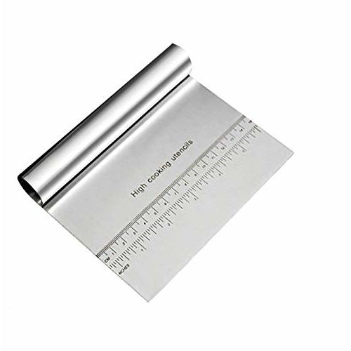 Syga Stainless Steel Cake Smoother with Scale Cutting Knife(Silver)