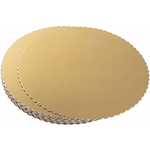 APSAMBR- Cake Board 10 INCH Round Cardboard 5 Picecs-Piece Cardboard Round Cake Circle Base, 10 Inches Diameter, Gold