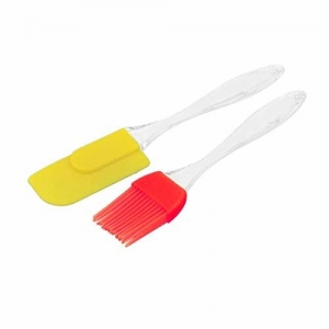 TECHICON Silicone Spatula and Pastry Brush for Cake Mixer, Decorating, Cooking, Baking and Glazing(Multicolour, Standard Size)