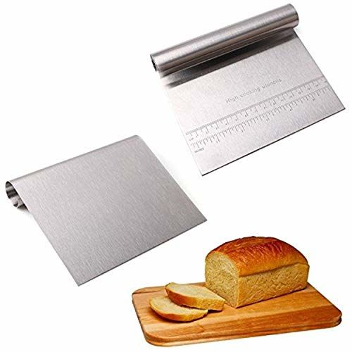 Royals Stainless Steel Cake Smoother with Scale Cutting Knife(Silver)