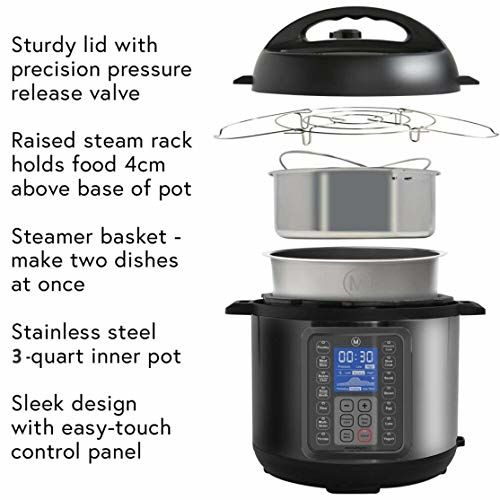 Mealthy MultiPot 9-in-1 Programmable Electric Pressure Cooker with Stainless Steel Pot, Steamer Basket and Instant Access to Mealthy Recipe App. Pressure Cook,
