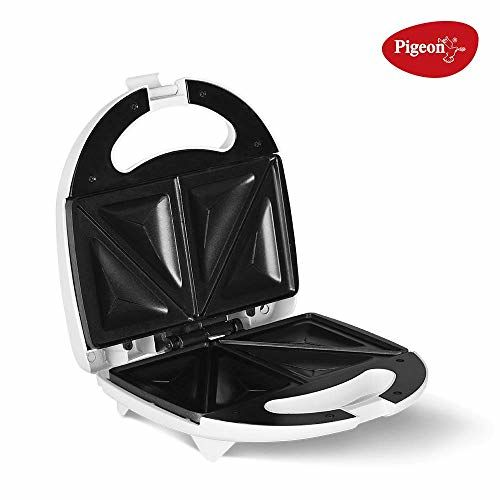 Pigeon by Stovekraft Egnite Pluse Bread Sandwich Maker with Aluminium Nonstick Coated Fixed Plates (Toaster)