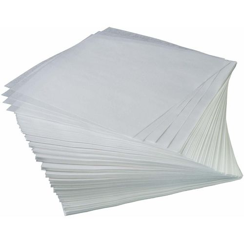 Getitnow Butter Paper Sheets in White (Colour Pack of 100, Size 10