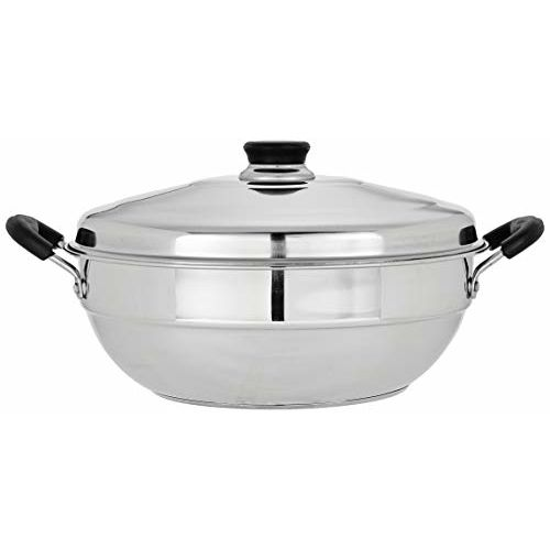 Amazon Brand - Solimo Stainless Steel Induction Bottom Multi Kadai with 6 plates