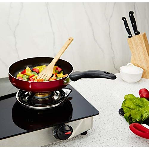 Amazon Brand - Solimo Non Stick Fry pan (22cm, Induction and Gas Stove Compatible)