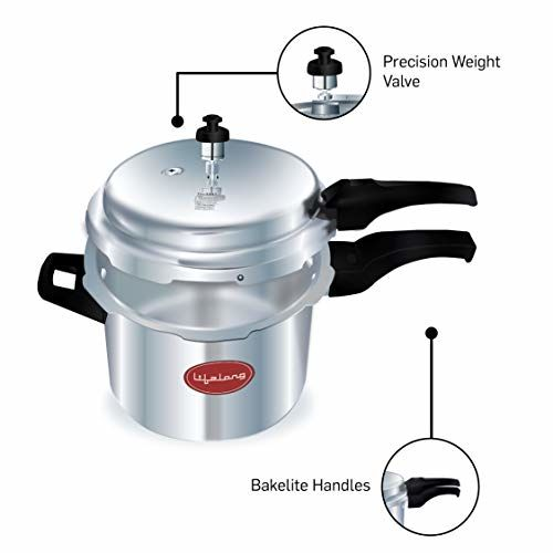 Lifelong Outer Lid Pressure Cooker, 3 Litre (ISI Certified, Induction and Gas Compatible)