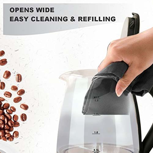 Inalsa Electric Kettle PRISM-1500W with LED Illumination,Boro-Silicate Body, 1.8 L Capacity, Glass Kettle