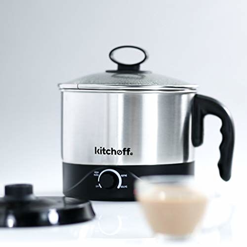 Kitchoff WDF Automatic Electric Multi-Purpose Kettle (Sliver and Black) (1.5 Litre)