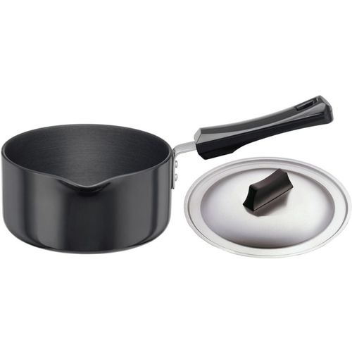 Hawkins Futura Hard Anodized with Lid Sauce Pan 16 cm diameter with Lid(Hard Anodised, Non-stick)
