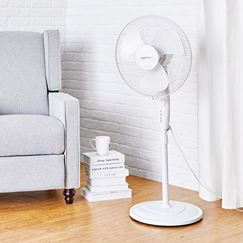 AmazonBasics - High Speed Pedestal Fan for Cooling with Automatic Oscillation (400 MM)