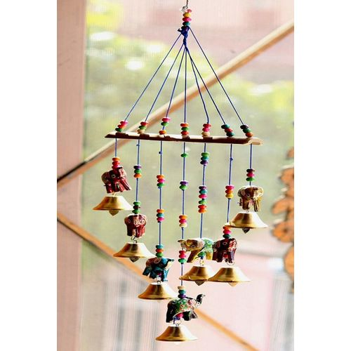 spk Wood, Iron Windchime(45 inch, Multicolor)