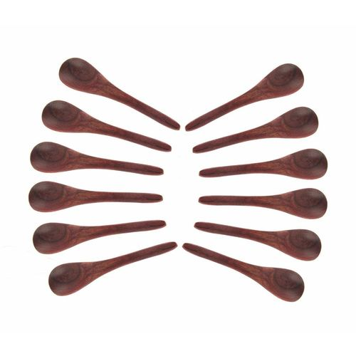 Shilpi Handicrafts Shilpi 4 small wooden spoon set on 12
