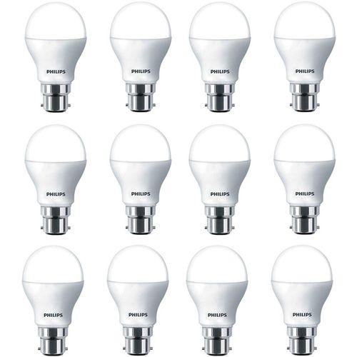 Philips 9 W Standard B22 LED Bulb(White, Pack of 12)