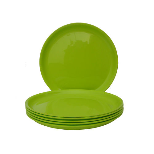 Incrizma - Round Dinner Plate Lime Green -6 Pcs