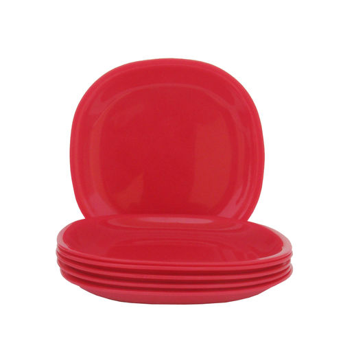 Incrizma - Square Dinner Plate Red -6 Pcs