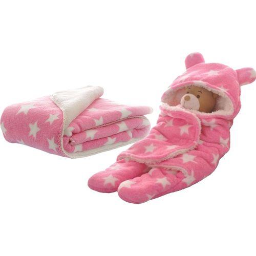 My New Born Polka Crib AC Blanket(Cotton, Pink)