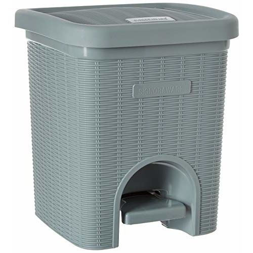 Signoraware Modern Lightweight Dustbin for Home and Office 12Ltr, Grey