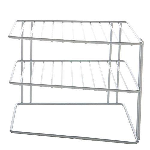 INDIAN DECOR. INDIAN DECOR Kitchen Corner Rack, Shelf Plate Rack, Kitchen Storage Idea, Cupboard Organiser - White 25X25X20