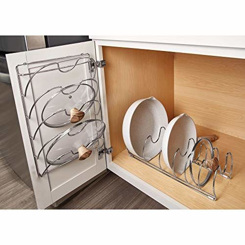 Buy Interdesign Classico Stainless Steel Kitchen Cabinet Pantry Pan And Pot Lid Organizer Rack Holder Cookware Organizer With Steel Lid Divider 17 Inches Chrome Online Looksgud In