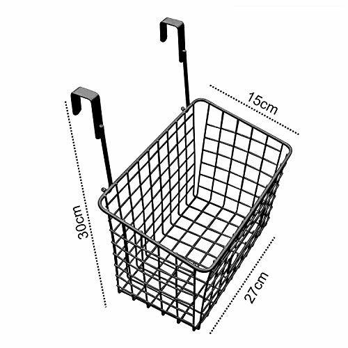 Livzing Multi-Functional Compact Over The Cabinet Organizer Door Hanging Rack Shelf Storage Spice Bottle Basket Kitchen Pantry Caddy -Black