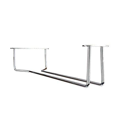 Plantex Wine Glass Rack/Holder Upside Down Glass Hanging Organizer for Pubs/Kitchen/Bars - (Single Line - Large)